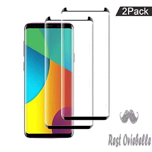 [2 Pack] Galaxy S8 Screen Protector Tempered Glass, [Update Version] Ou RTY 3D Curved Dot Matrix [Full Screen Coverage] Glass Screen Protector [Case Friendly] for Samsung S8