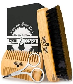 Beard Brush, Comb, & Scissors