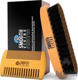 Smooth Viking Wild Boar Beard Brush
