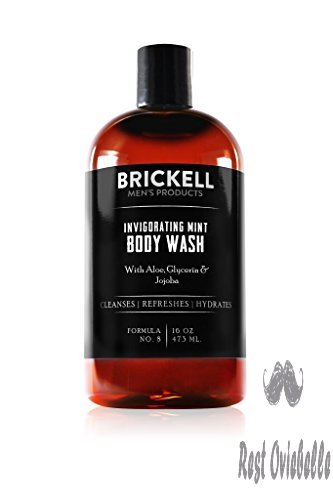 Brickell Men's Invigorating Mint Body Wash for Men – 16 oz – Natural & Organic