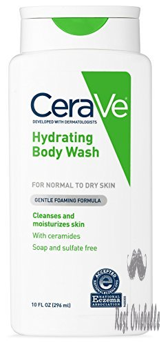 CeraVe Body Wash for Dry Skin | 10 Ounce | Moisturizing Body Wash with Hyaluronic Acid | Sulfate & Fragrance Free