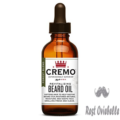 Cremo Beard Oil, Forest Blend - Restores Moisture, Softens And Reduces Beard Itch for All Lengths Of Facial Hair, 1 Ounce