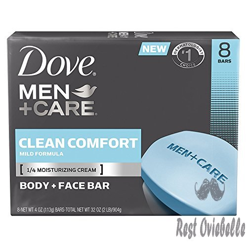 Dove Men+Care Body and Face Bar, Clean Comfort 4 oz, 16 BARS