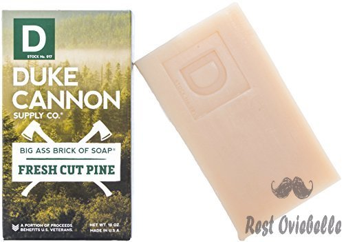 Duke Cannon Great American Frontier Men's Big Brick of Soap, Fresh Cut Pine, 10 Ounce