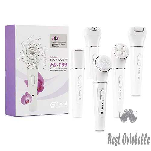 Facial Advanced Cleansing System 5-in-1 Facial Brush+Massager+Epilator+Lady Shaver+Callus Remover, Flend Perfect Skin Care Tool kit