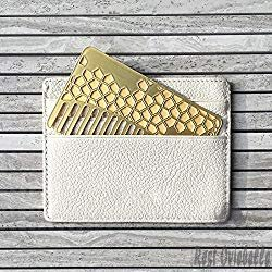 Go-Comb + Mirror / Brass Tile Hair Comb 1