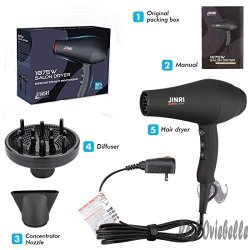 JINRI Professional Hair Blow Dryer,1875W Ionic Hair Dryer 1