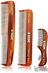Kent Men's Handmade Beard Comb, Set of 3