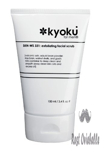 Kyoku For Men Exfoliating Facial Scrub | Kyoku For Men Face Scrub, A Gentle Acne Treatment For Men (3.4oz) Updated Formula
