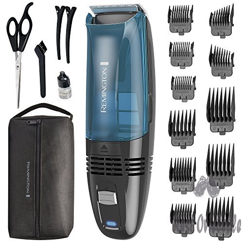 Remington HC6550 Cordless Vacuum Haircut Kit, Vacuum Beard Trimmer, Hair Clippers for Men (18 pieces)  Image