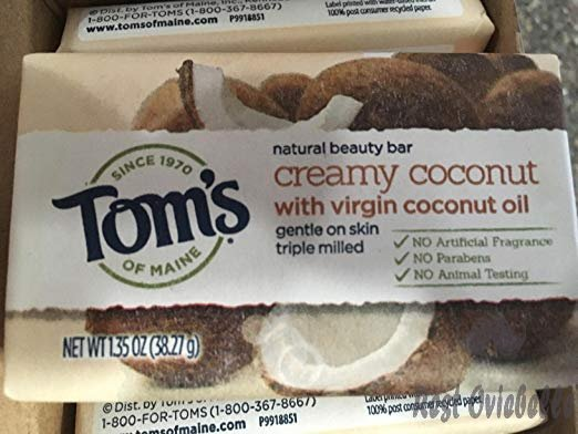 Tom's of Maine Natural Beauty Bar, Bar Soap, Natural Soap, Creamy Coconut with Virgin Coconut Oil, 5 Ounce, 6-Pack Customer Image 3