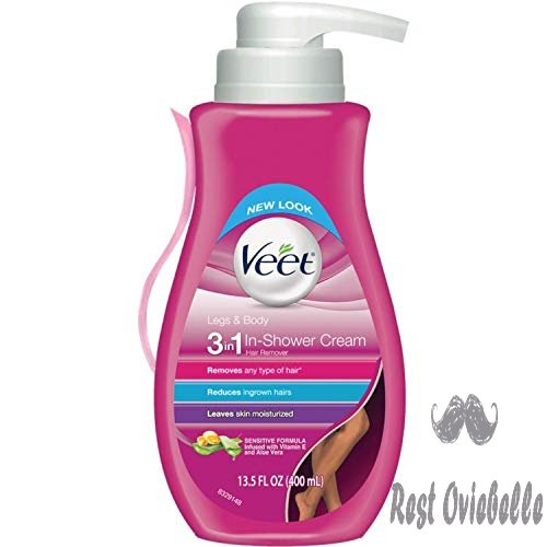 Veet Gel Hair Remover Cream with Essential Oils, 13.50 Ounce (Package May Vary)
