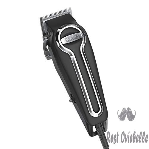 Wahl Clipper Elite Pro High Performance Haircut Kit for men, includes Electric Hair Clippers, secure fit guide combs with stainless steel clips - By The Brand used by Professionals #79602  Image