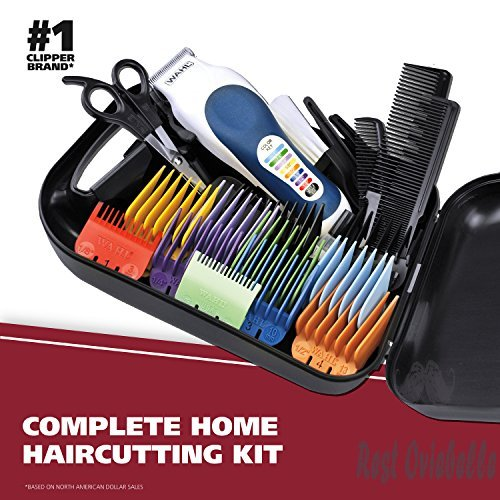 Wahl Color Pro Complete Hair Cutting Kit with Extended Accessories & Cape, Includes Color Coded Guide Combs and Color Coded Hair Length Key, Styling Shears, and Combs for Home Styling,79300-1001  Image 1