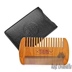 Wooden Beard Comb & Case,