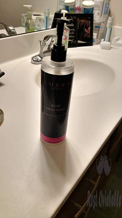 Bare Intimate Shave Lotion for Women by Luxxx Beauty (16 fl oz) - Shaving Cream for Sensitive Skin Minimizes Razor Burn, Shaving Bumps - Nourishes Skin with Jojoba and Vitamin B5 - Fresh Floral Scent Customer Image 1