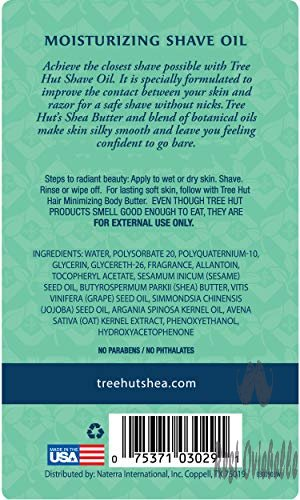 Tree Hut bare Moisturizing Shave Oil, 7.7oz, Essentials for Soft, Smooth, Bare Skin  Image 3