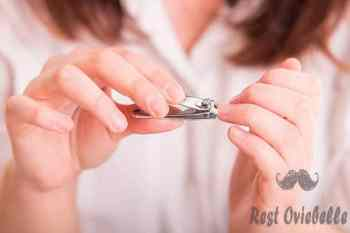 woman cutting nails using nail clipper - nail clipper s and pictures How To Cut Nails Properly