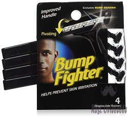 Bump Fighter Mens Disposable Razors,