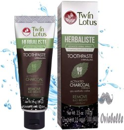 TWIN LOTUS Charcoal Toothpaste Free