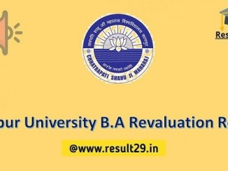 Kanpur University B.A Revaluation Result