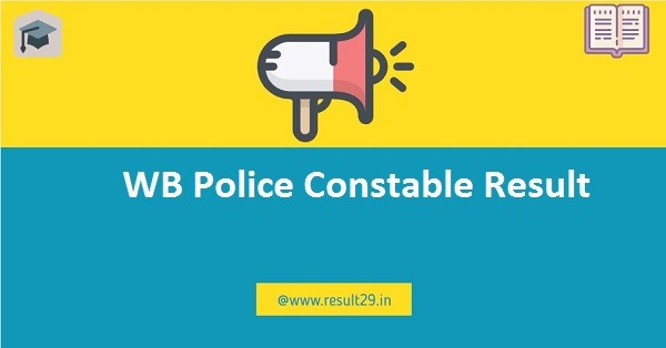 WB Police Constable Result 2020 Male Final Result