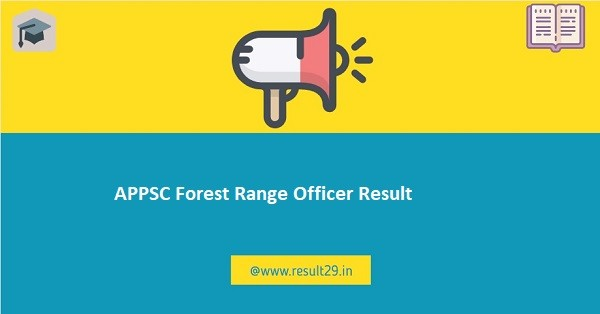 APPSC Forest Range Officer Result
