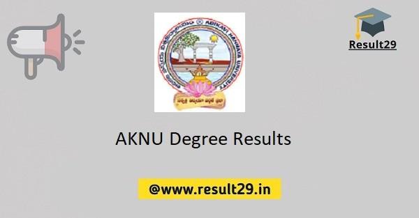 AKNU Degree Results