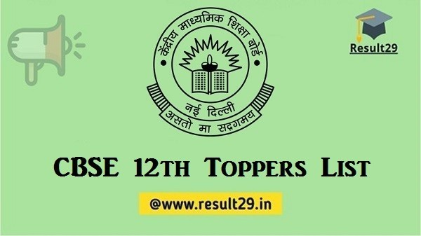 CBSE 12th Toppers List