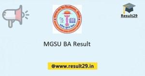 MGSU BA Result