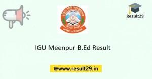 IGU Meerpur B.Ed Result