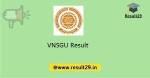 VNSGU Result