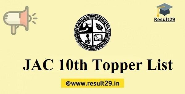 JAC 10th Topper List
