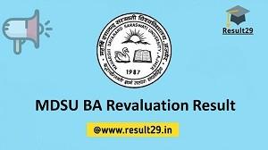 MDSU BA Revaluation Result