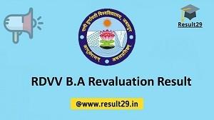 RDVV B.A Revaluation Result