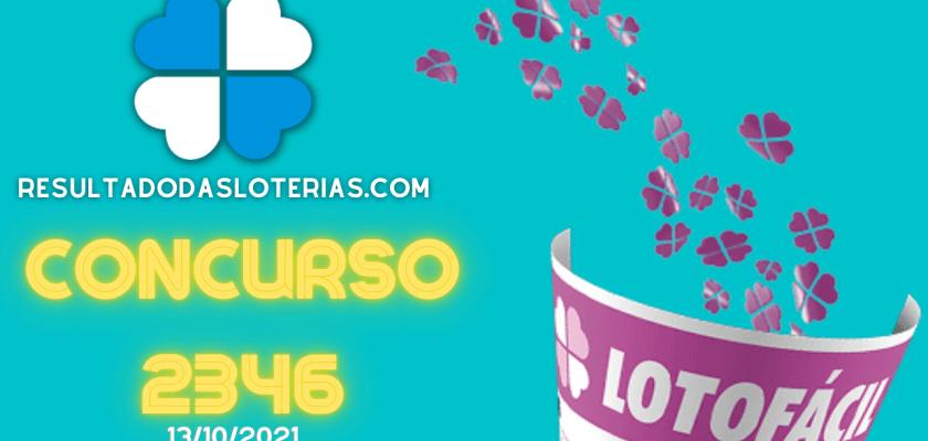 Lotofácil concurso 2346
