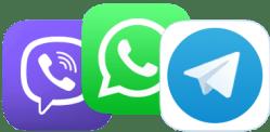 Viber, WhatsApp, Telegram