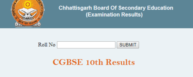 CGBSE 10th Class Result 2018