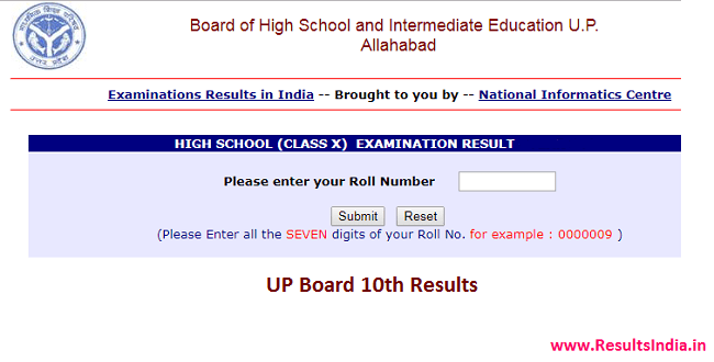 UP Board 10th Class Results 2018