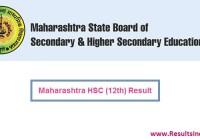Maharashtra Board HSC 12th Result 2018