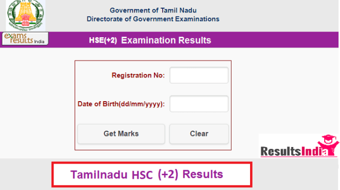 Tamilnadu HSC (+2) Results 2019
