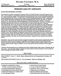 Sample Federal Resume Resume Express