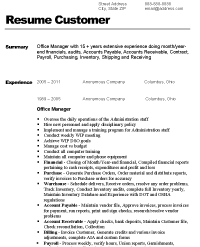 ... Before Version Of Resume Sample Office Manager Resume ...