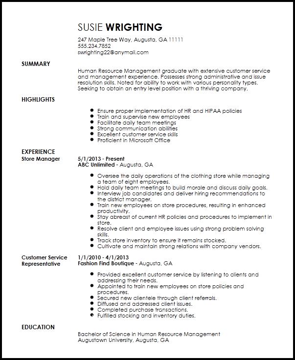 Free Entry Level Recruiter Resume Template  ResumeNow