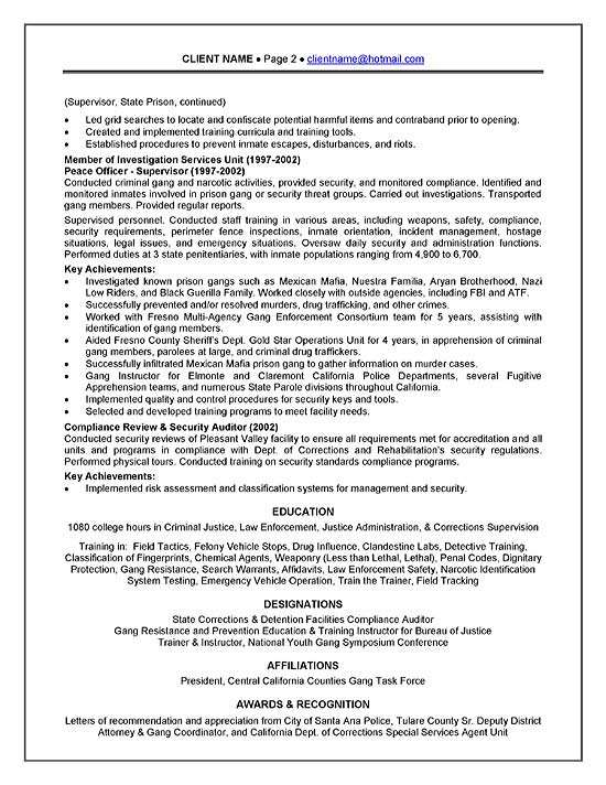 Sample Resume For Police Officer  Sample Resume And Free Resume