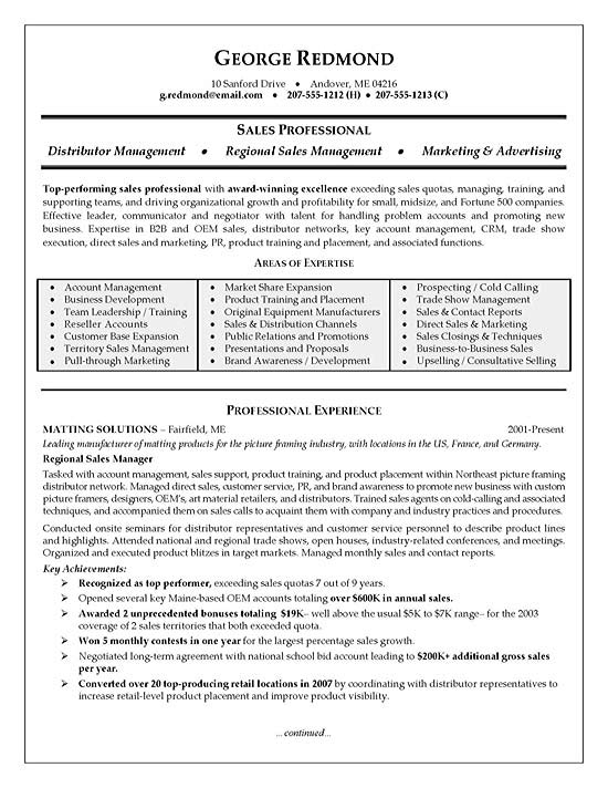 Sales Resumes Examples Pharmaceutical Sales Resume Examples