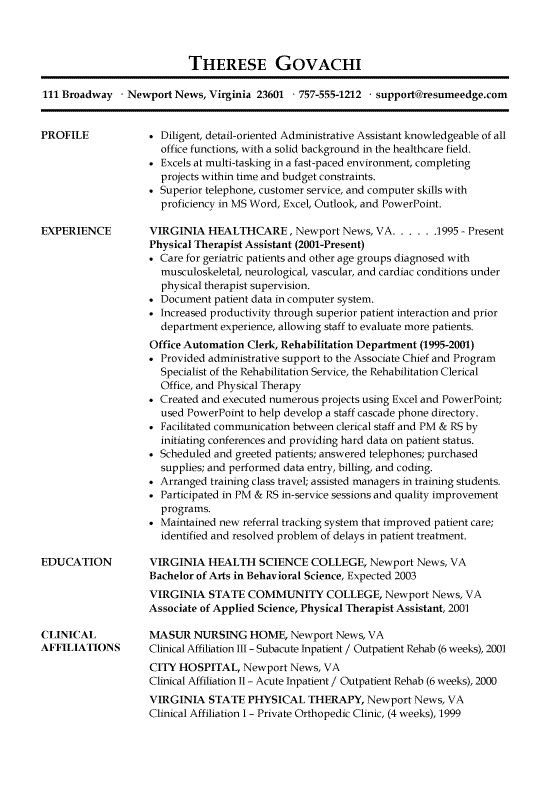 example of front desk receptionist resume
