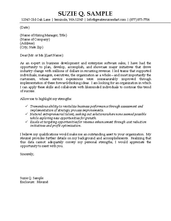 IT Sales Cover Letter Example  Technology Professional