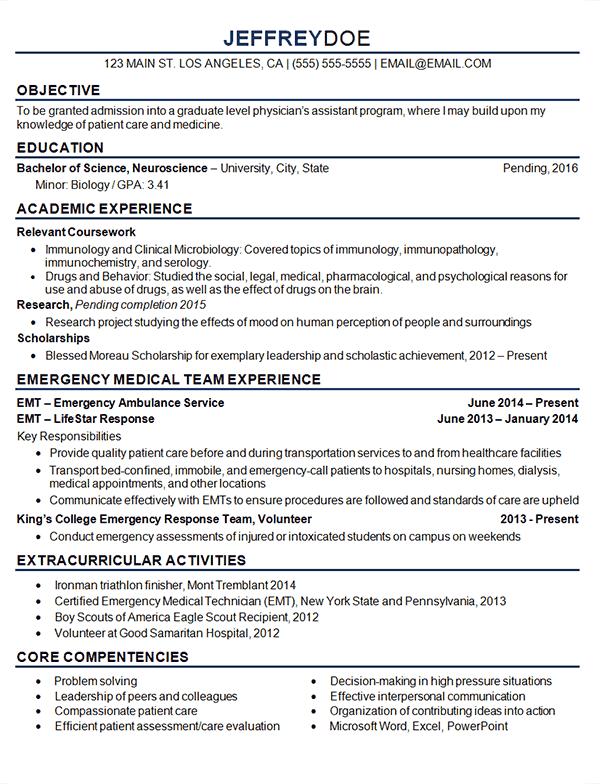 student professional resume