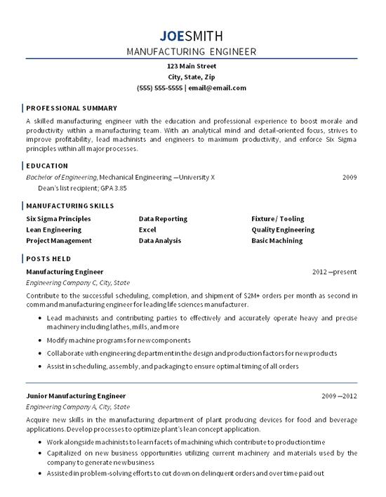 resume professional goal